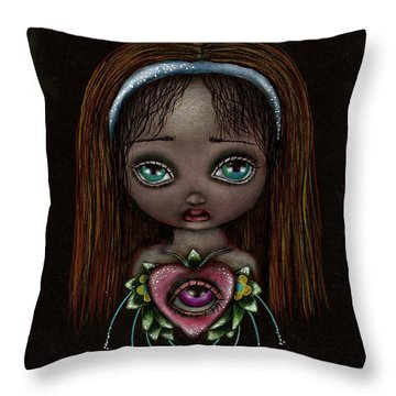 Alicia Throw Pillow by  Abril Andrade Griffith