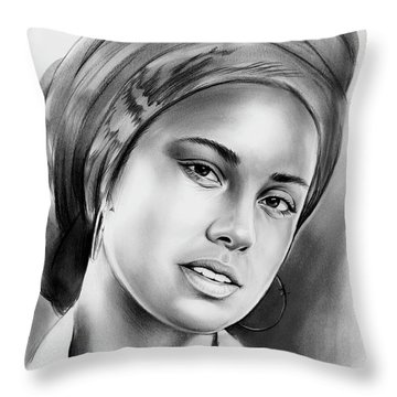 Alicia Keys 2 Throw Pillow