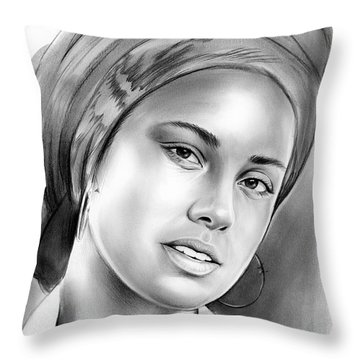 Alicia Keys Throw Pillow