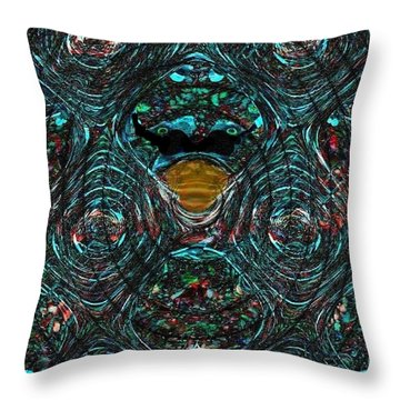 Alien Ab-duck-tion Throw Pillow