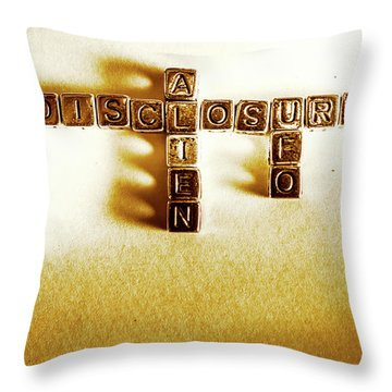 Alien And Ufo Disclosure Throw Pillow