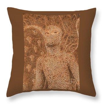 Alien Angel Throw Pillow