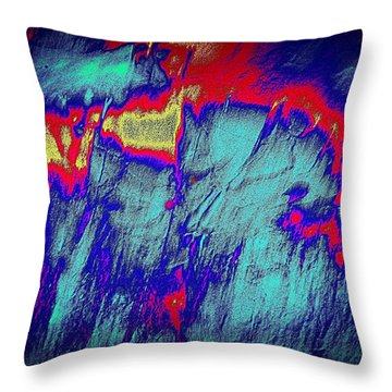 Alien Aura Throw Pillow