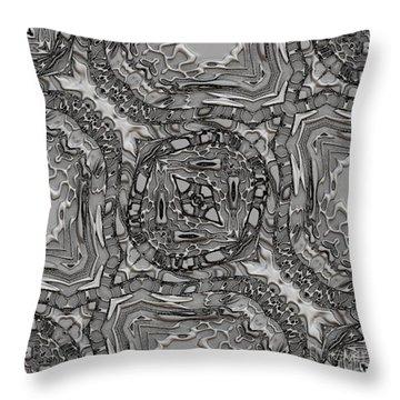 Alien Building Materials Throw Pillow