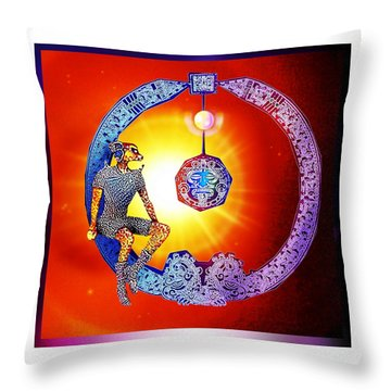 Alien  Dream Throw Pillow by Hartmut Jager