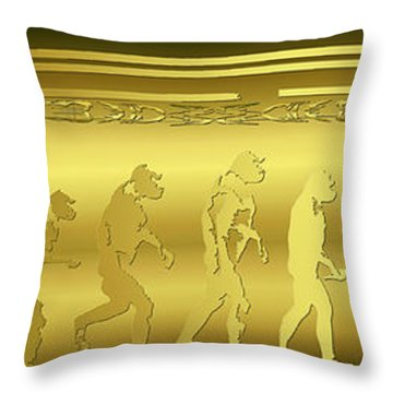 Alien Evolution Throw Pillow