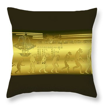 Throw Pillow featuring the photograph Alien Evolution by Robert G Kernodle