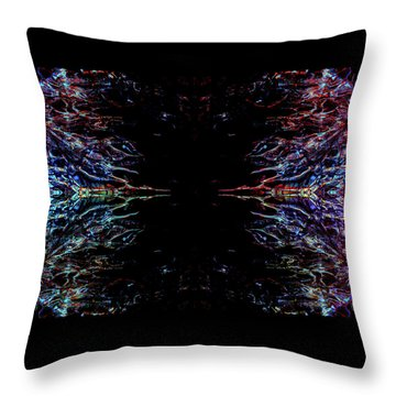 Alien Face Off Throw Pillow by Samantha Thome