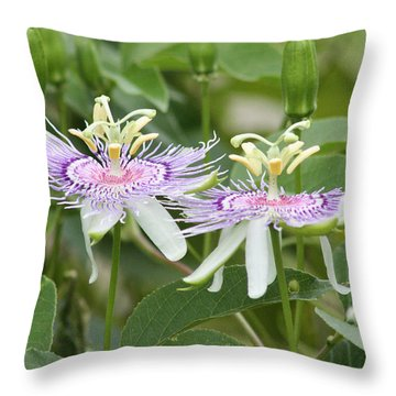 Alien Flower Throw Pillow