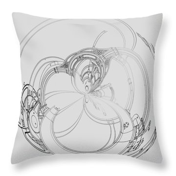 Alien Flywheel Throw Pillow