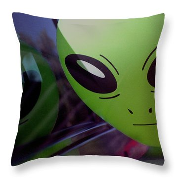 Alien Is Closer Than He Appears Throw Pillow