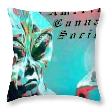 Alien Throw Pillow by Michelle S White
