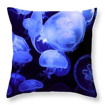 Alien Throw Pillow by Mitch Cat