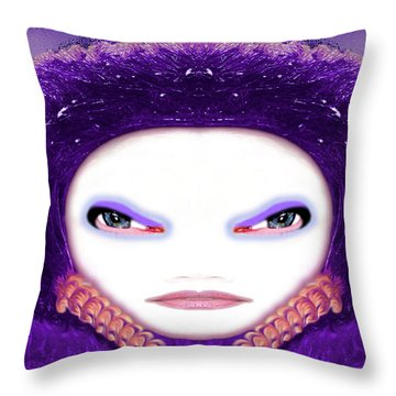 Throw Pillow featuring the photograph Alien Mom #194 by Barbara Tristan
