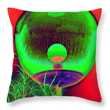 Alien Orb Throw Pillow