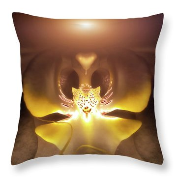 Alien Orchid Throw Pillow by Wim Lanclus