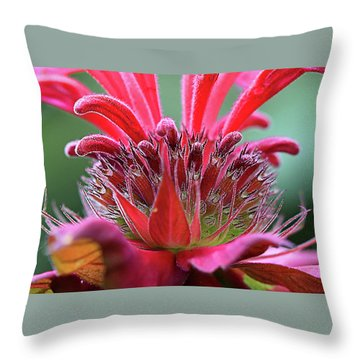 Alien Plant Life Throw Pillow