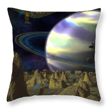 Alien Repose Throw Pillow
