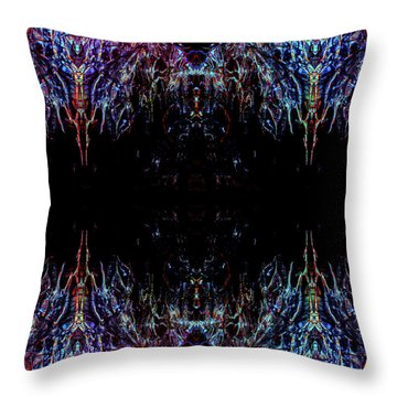 Alien Throw Pillow by Samantha Thome