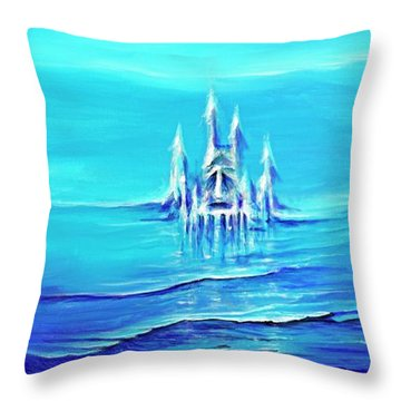 Alien Skies Throw Pillow