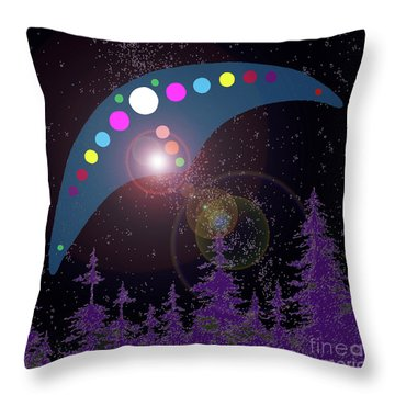 Throw Pillow featuring the painting Alien Skies by James Williamson