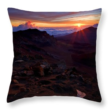 Alien Sunrise Throw Pillow by Mike  Dawson