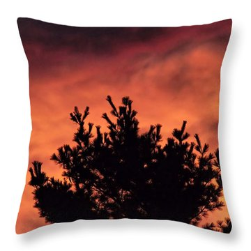 Throw Pillow featuring the photograph Alien Sunset by Kenny Glotfelty