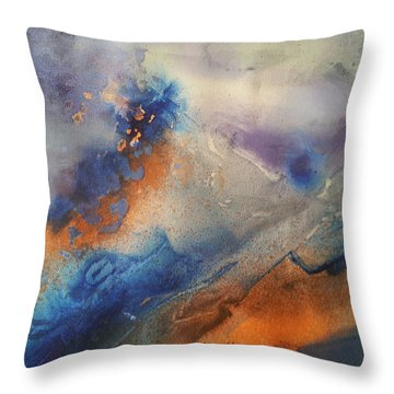 Alien Terrain Throw Pillow by Becky Chappell