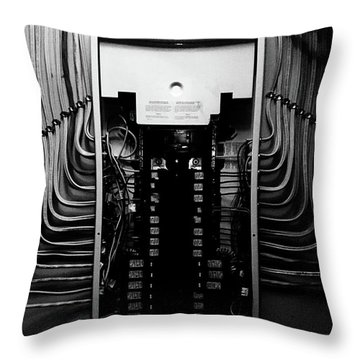Alien Wiring 200 Throw Pillow