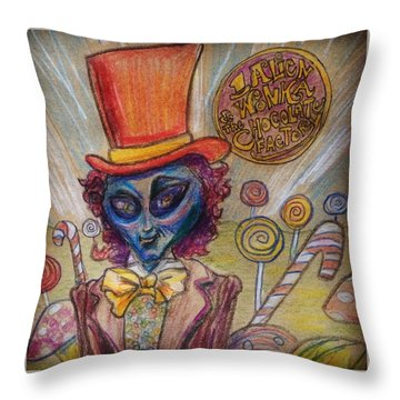 Alien Wonka And The Chocolate Factory Throw Pillow