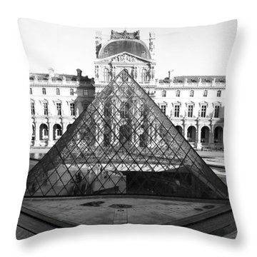 Aligned Pyramids At The Louvre Throw Pillow