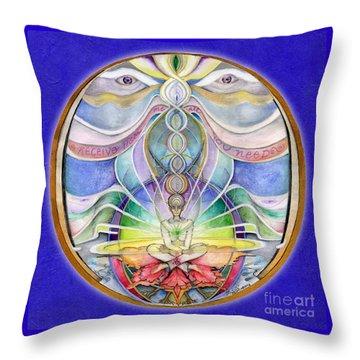 Alignment Mandala Throw Pillow