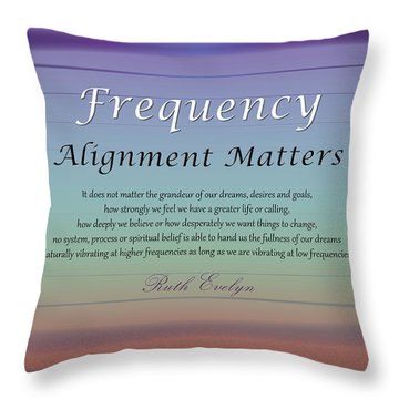 Alignment Matters Throw Pillow