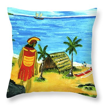 Alihi Hawaiian For Chief #57 Throw Pillow by Donald k Hall