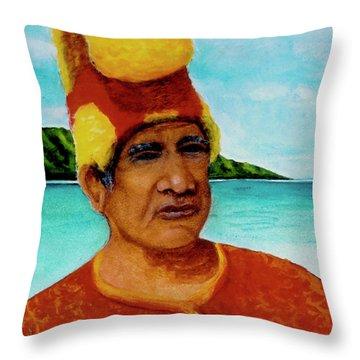 Alihi Hawaiian Name For Chief #295 Throw Pillow by Donald k Hall