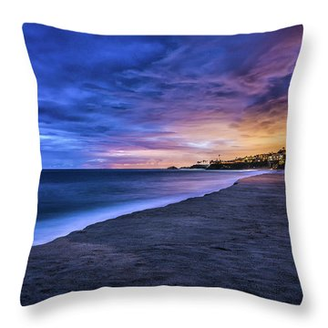 Aliso Beach Lights Throw Pillow