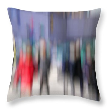 Alive In The City 3 - Going To The Train Throw Pillow