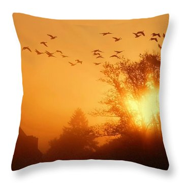 Alive Throw Pillow by Mitch Cat