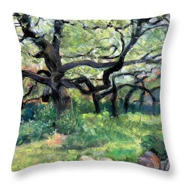 Alive Oaks Throw Pillow by Julie Maas