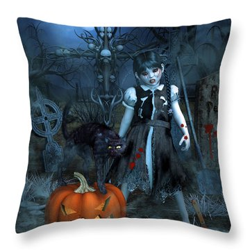 Alive Or Undead Throw Pillow by Jutta Maria Pusl