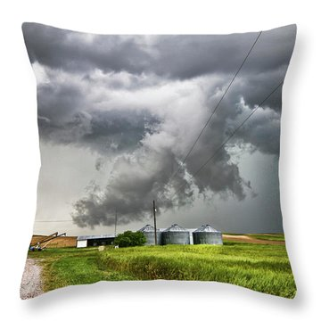 Alive Sky In Wyoming Throw Pillow