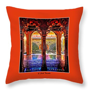 Throw Pillow featuring the photograph Aljaferia Coloratura by Jack Torcello