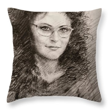 Alketa Throw Pillow