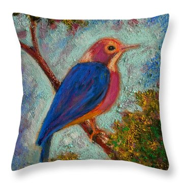 Alkion Throw Pillow by Constantinos Charalampopoulos