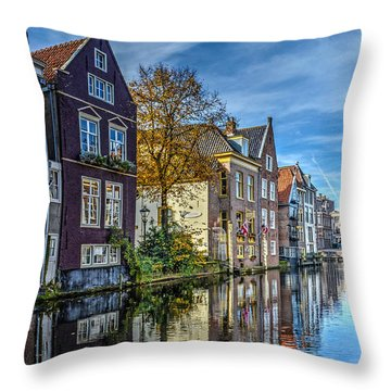 Alkmaar From The Bridge Throw Pillow