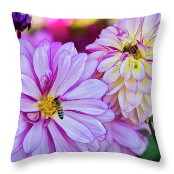 All A Buzz Throw Pillow