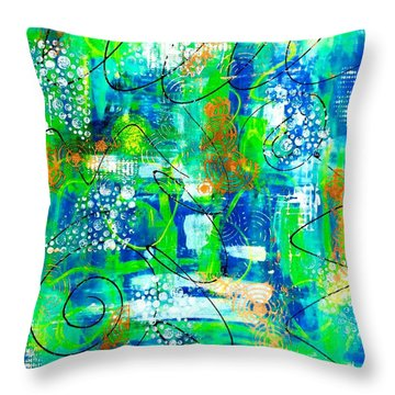 All A Whirl Throw Pillow by Julie Hoyle