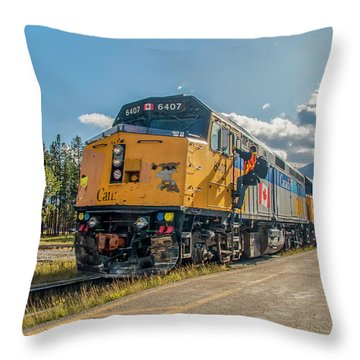 Throw Pillow featuring the photograph All Aboard 2009 by Jim Dollar