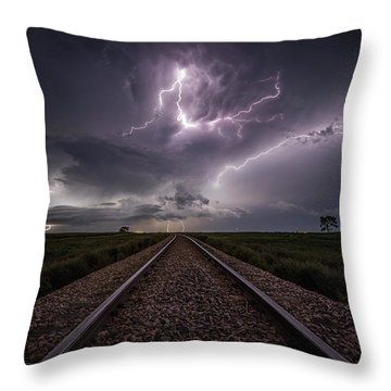 Throw Pillow featuring the photograph All Aboard  by Aaron J Groen