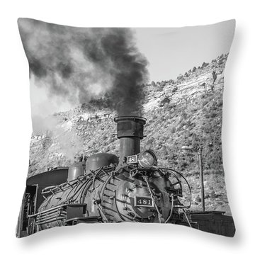 Throw Pillow featuring the photograph All Aboard by Colleen Coccia